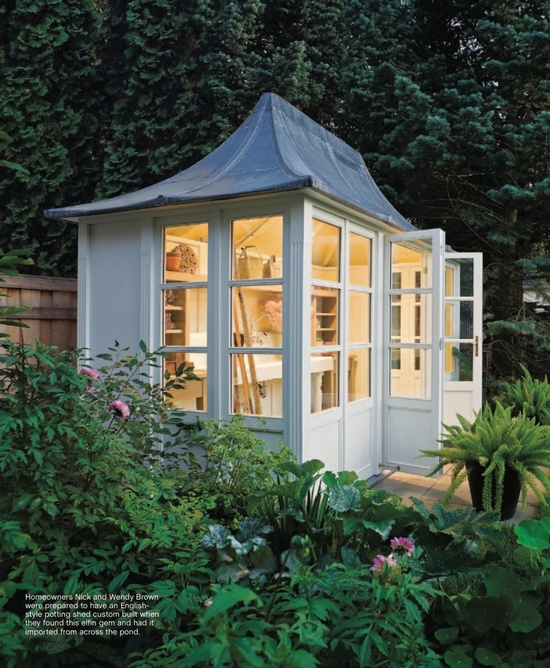 Nothin 39 sweeter than a potting shed preppy empty nester f for My bhg greenhouse