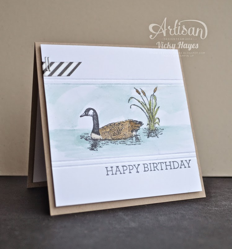 Easy watercolouring with Moon Lake stamps by Stampin' Up
