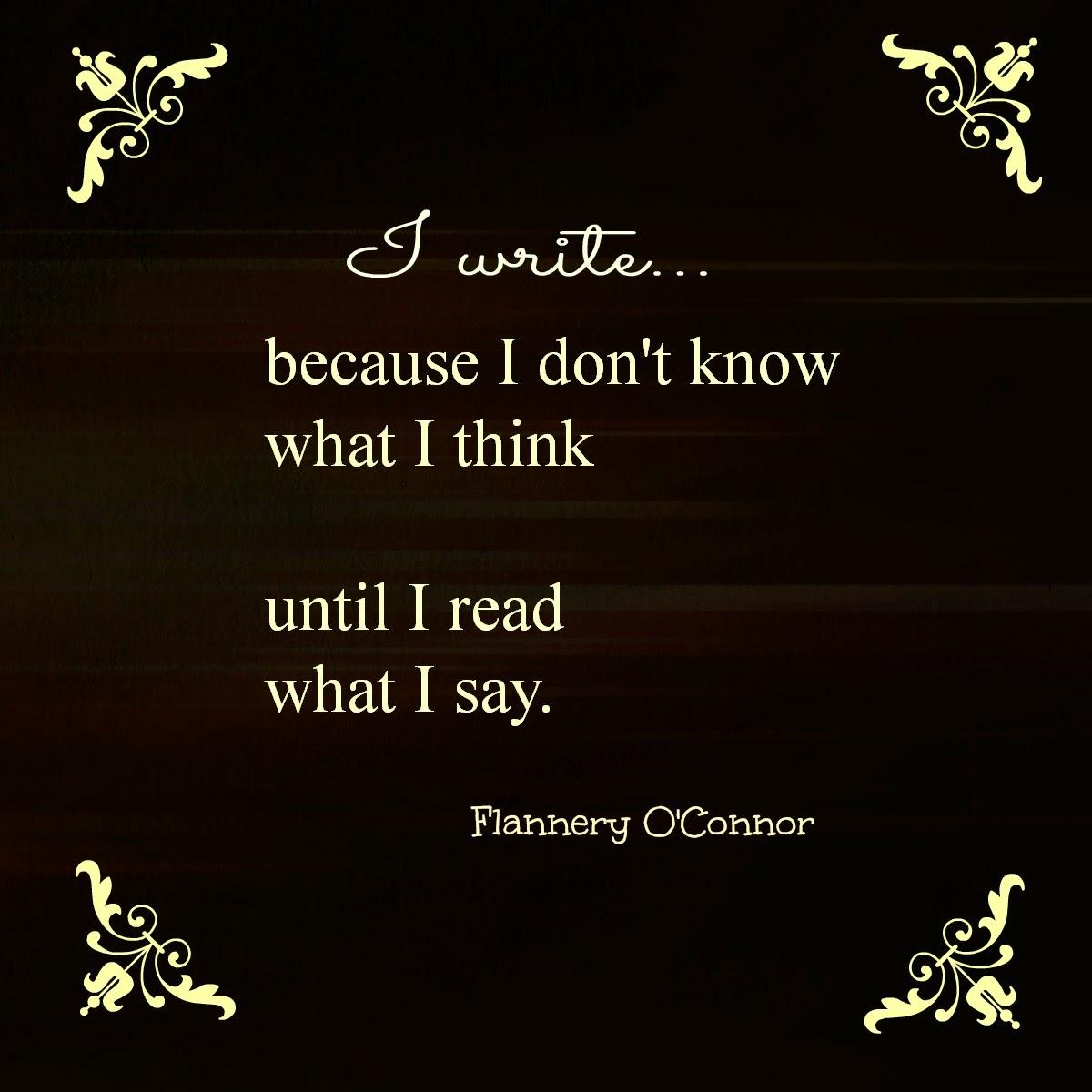 Why I write!