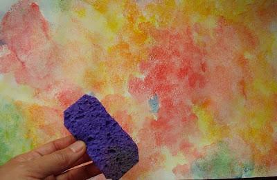 Técnica de pintura a la esponja