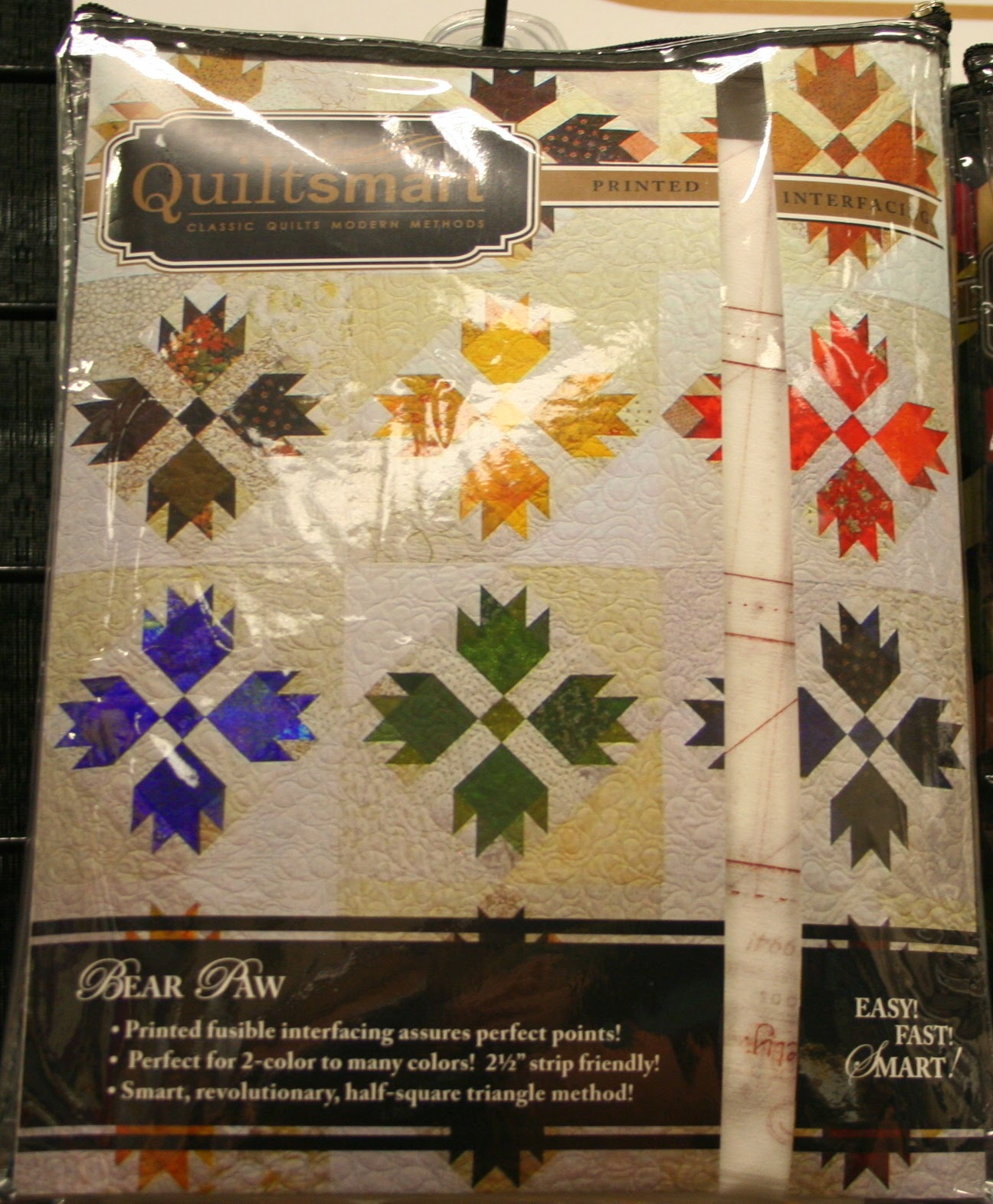 Quiltsmart Bear Paw Pattern