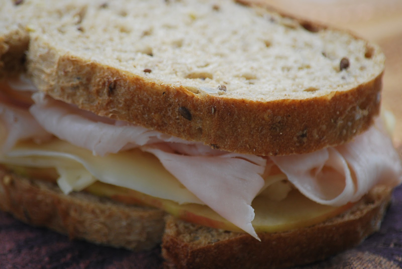 My story in recipes: Turkey, Apple and Swiss Sandwich