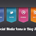 Add Cool Colored Hover Effects Social Media Widget To Blogger
