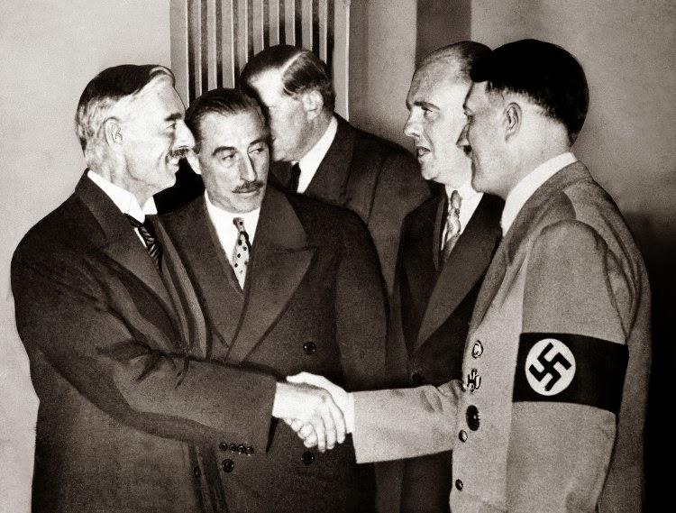 Munich Hitler Chamberlain Czechoslovakia Sudetenland worldwartwo.filminspector.com