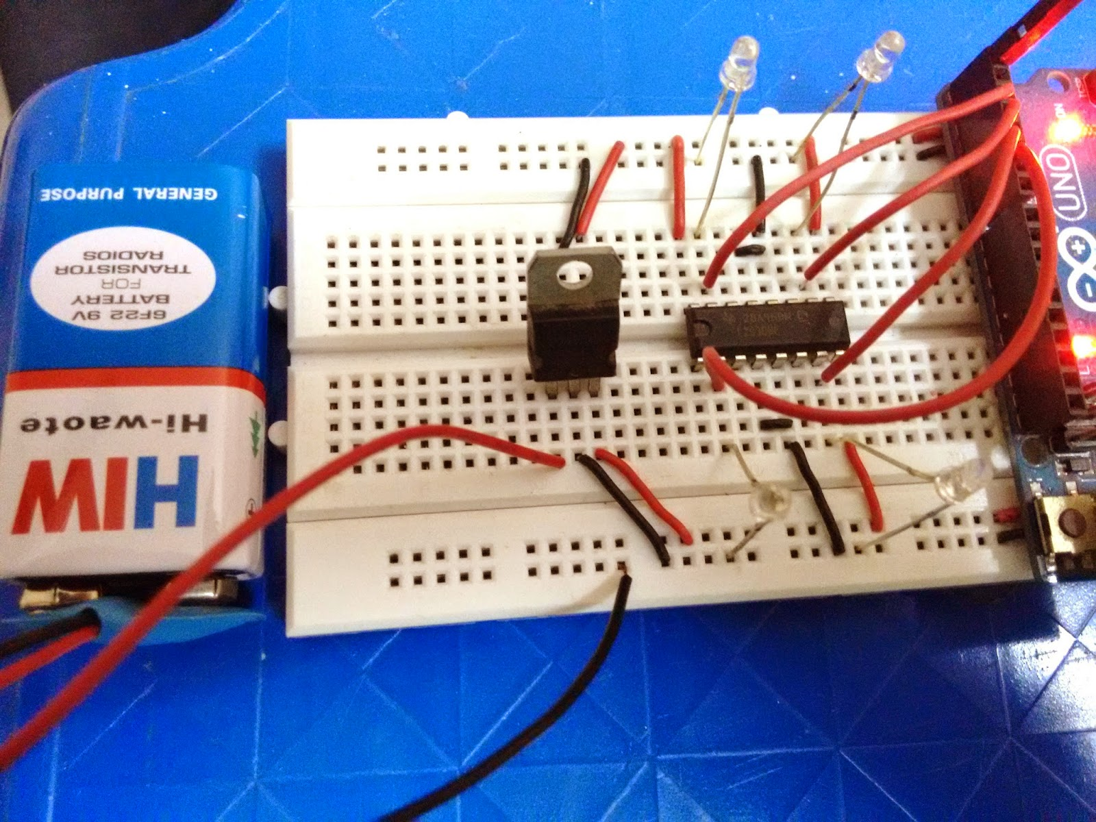 Voice Controlled Project Using Interfacing Of Arduino With Bluetooth Dc 12v To 5v Converter Circuit Uno Breadboard Power Supply Through Battery