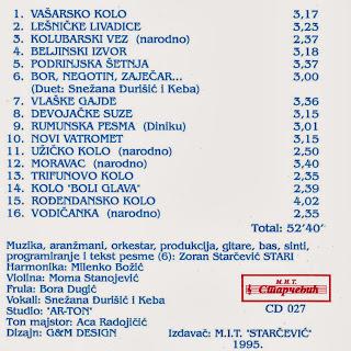 ZORAN STARČEVIĆ ~ STARI - Narodna kola za igranje Bonami+CD+8025+CD+027+1995+Omot+2