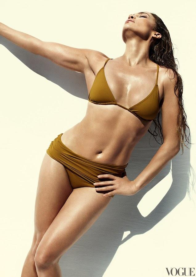 Jennifer Lopez in bikini for Vogue Magazine June 2012 issue