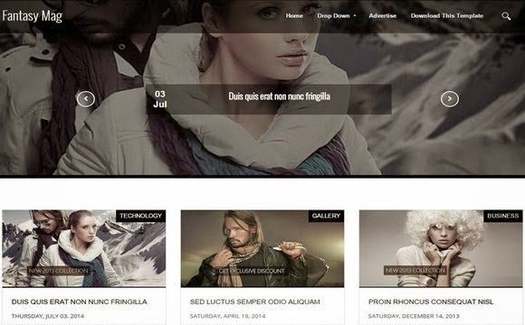 Fantasy Mag Blogger Template Responsive 2015