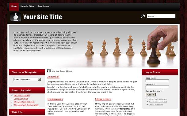 Free Chess Games Joomla 1.7 Theme Template