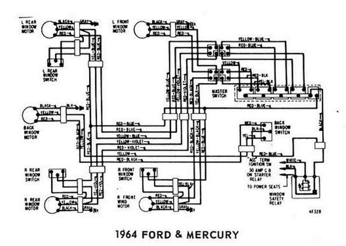 Windows+Wiring+Diagram+For+1964+Ford+Mercury windows wiring diagram for 1964 ford mercury all about wiring 1965 Thunderbird Window Regulator at virtualis.co