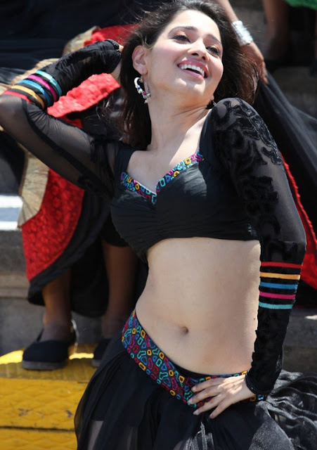 Gorgeous Tamanna Bhatia in Black Choli and Long skirt Dancing mood