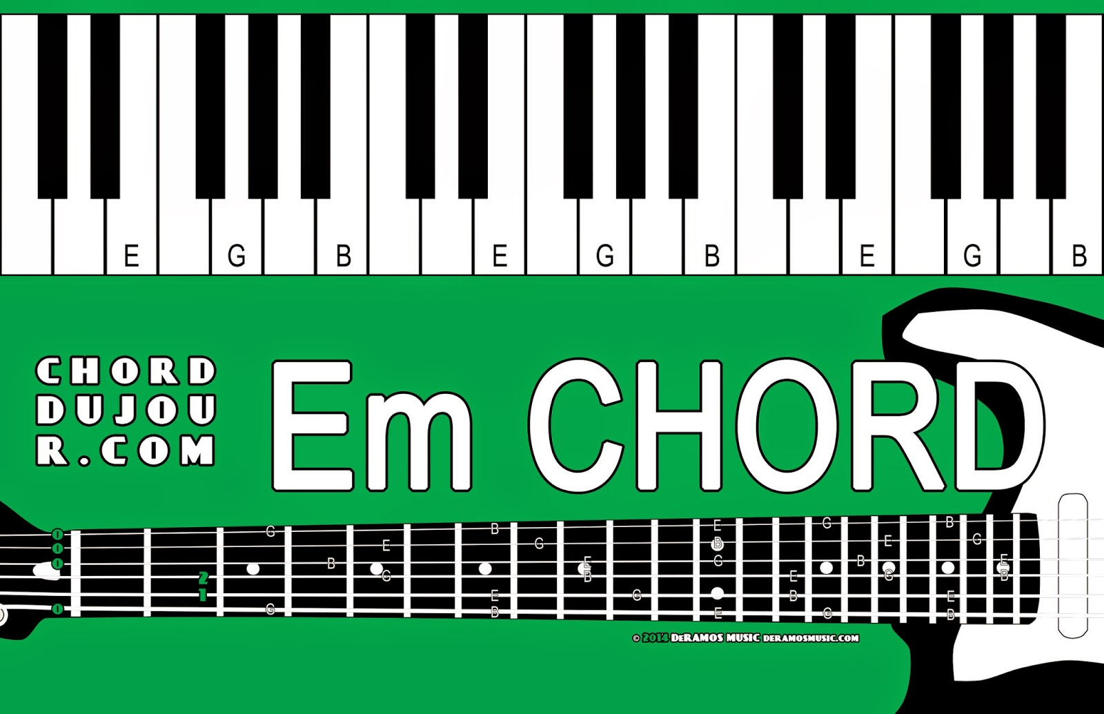 Chord du jour chord deux jour challenge em and g on the guitar leave the low e string open with your index finger fret the a string behind the 2nd fret 1 with your middle finger fret the d string hexwebz Image collections