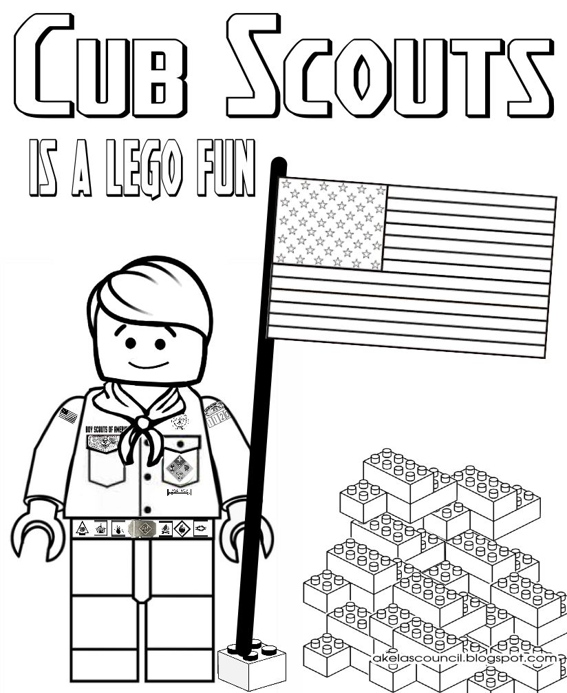 Cub Scout Coloring Pages Akela's Council Cub Scout Leader Training Lego Cub Scout Coloring