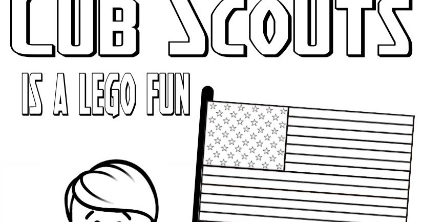 cub scout coloring pages free - photo#13