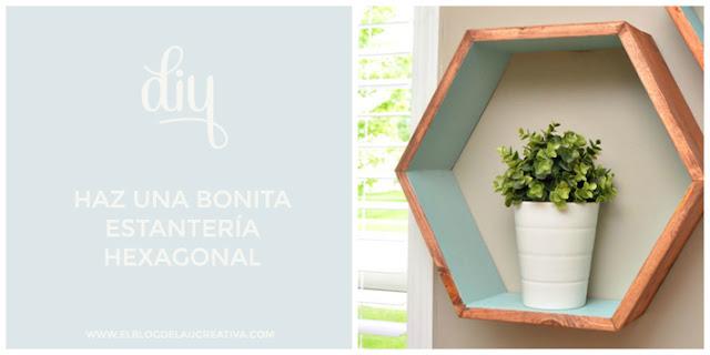 diy-bonita-estanteria-hexagonal