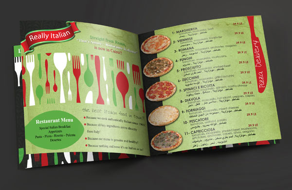 High Quality Restaurant Brochure Design