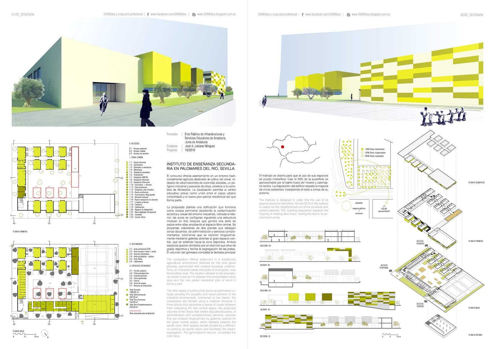 Instituto de ense anza secundaria en palomares del r o - Estudios de arquitectura en sevilla ...
