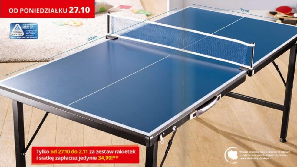 Mini stół do tenisa stołowego z Biedronki
