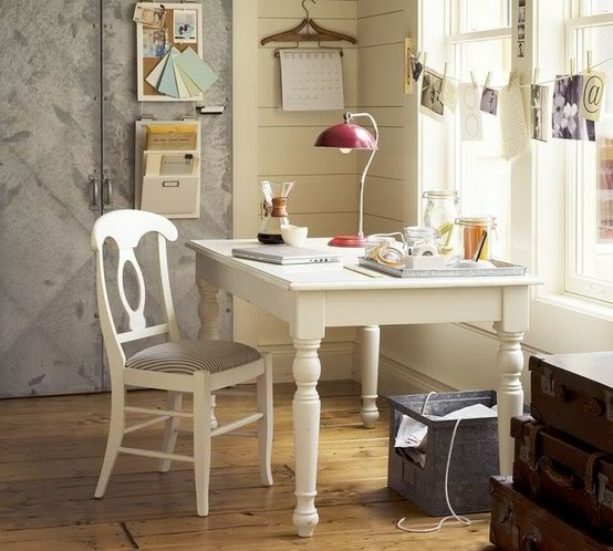 Why Use The Traditional Desk When You Can Have An Old Farm Table As Your  New Desk. So Put Some Baskets Under It For Storage. Part 13