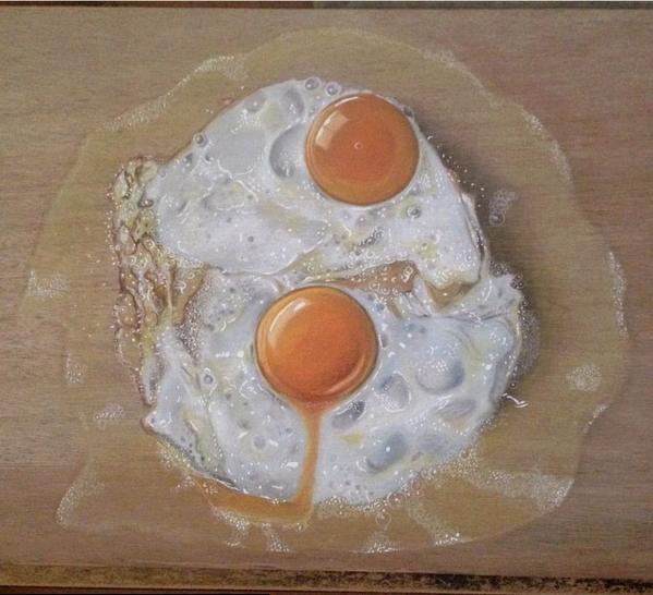 Lukisan 3Dimensi Telur oleh Ivan Hoo