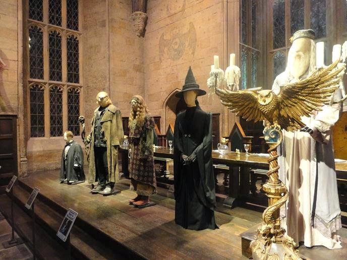 Os professores de Hogwarts no Salão Principal - Visitando os Estúdios de Harry Potter em Londres