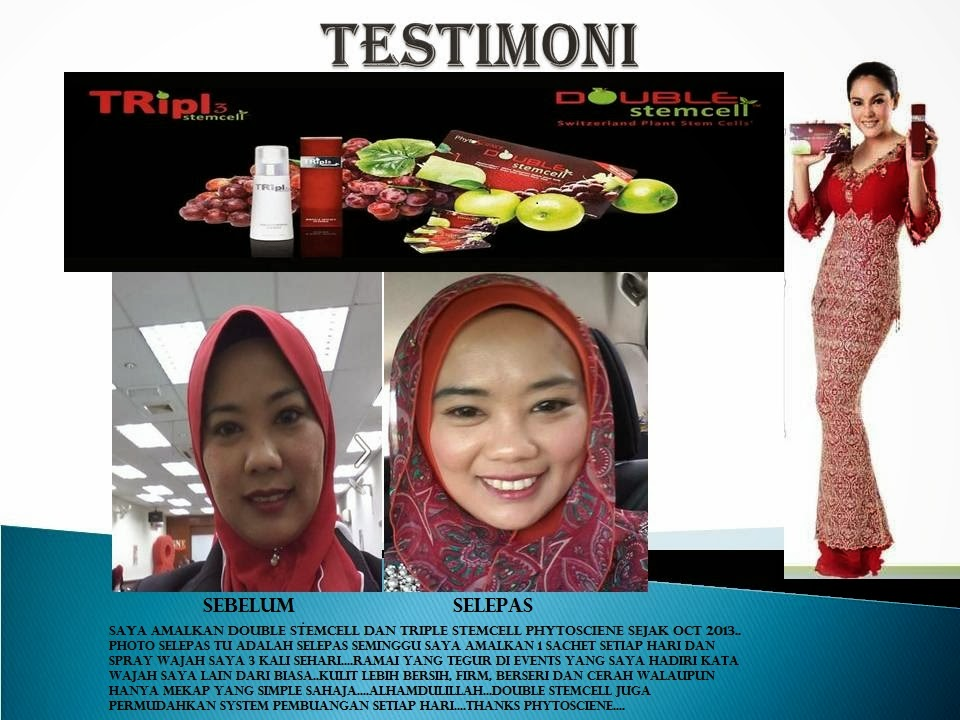 MY TESTIMONI FOR DOUBLE STEMCELL PHYTOSCIENE