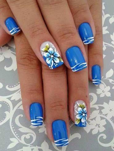 Pretty Nails Art For Hand Nails By Nail Art Mania Hand Nails Decoration Summer Kurti Designs