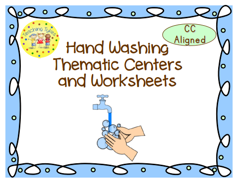 http://www.teacherspayteachers.com/Product/Hand-Washing-Thematic-Centers-and-Worksheets-Common-Core-Aligned-765160
