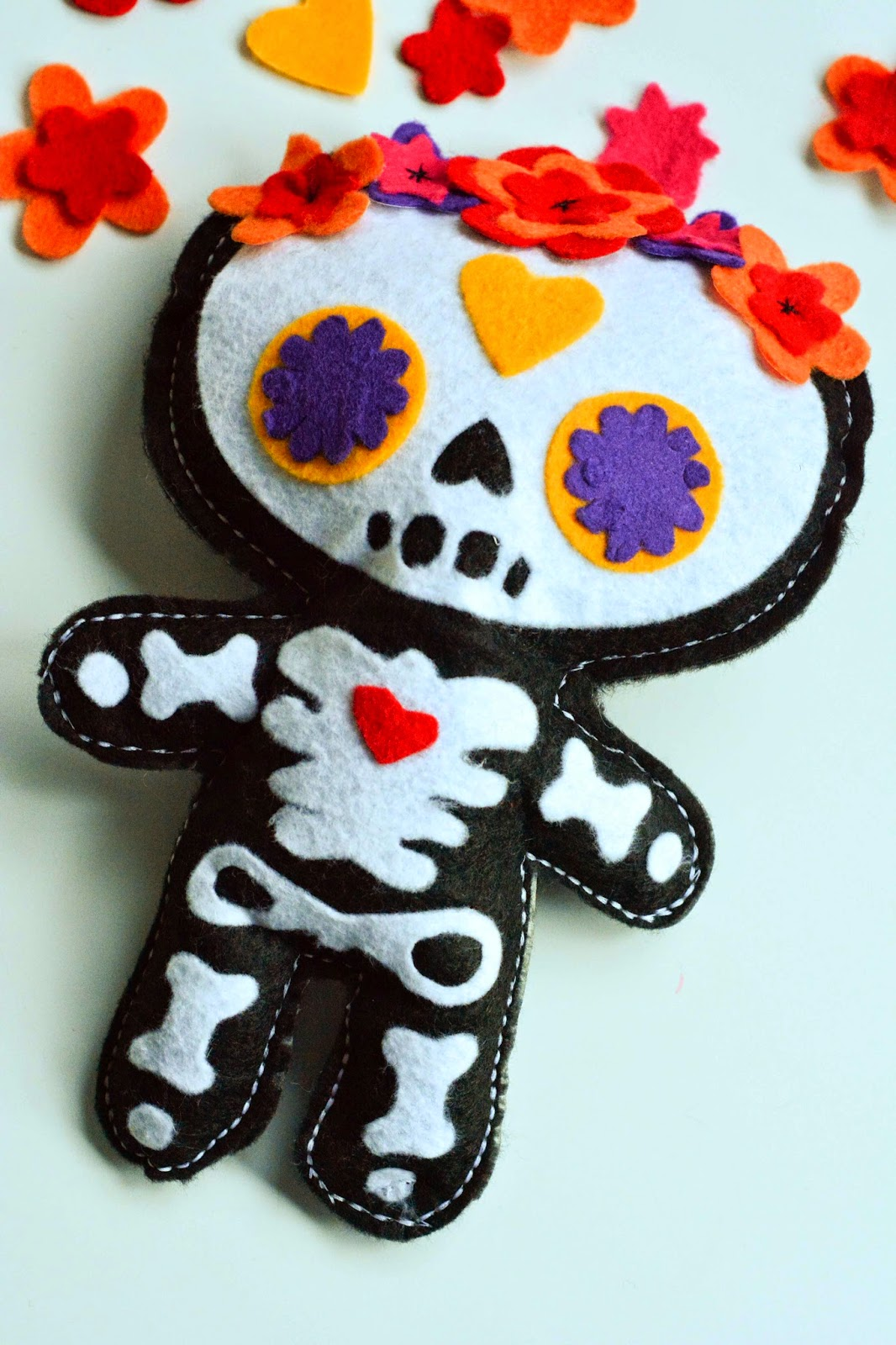 aesthetic nest craft day of the dead doll free pattern