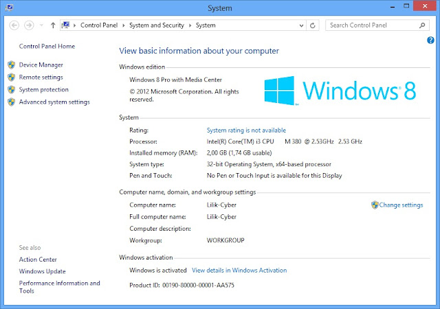 Cara Aktivasi Permanen Windows 8 Pro With Media Center