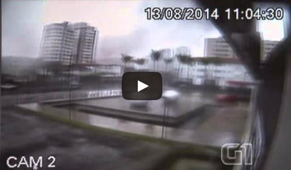 Vídeo da queda do avião que matou Eduardo Campos