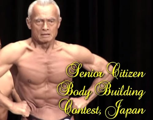 Senior Citizen Body Building Contest - Japan