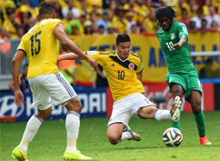 Colombie 2 - 1 Cote d'Ivoire