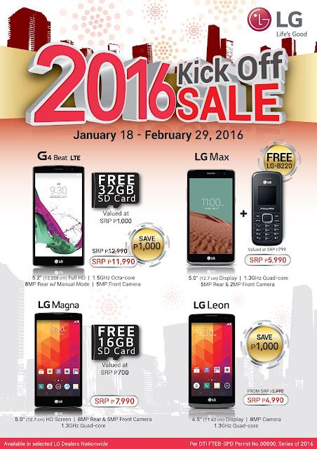 LG Smartphones 2016 Kick-Off Sale
