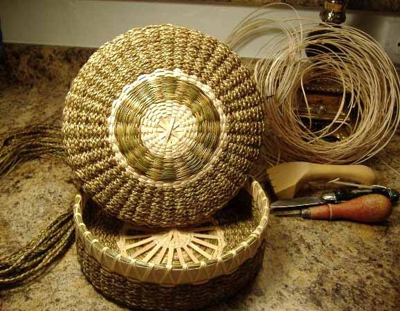 How To Weave A Sweetgrass Basket : My quot belles choses the beautiful art of weaving