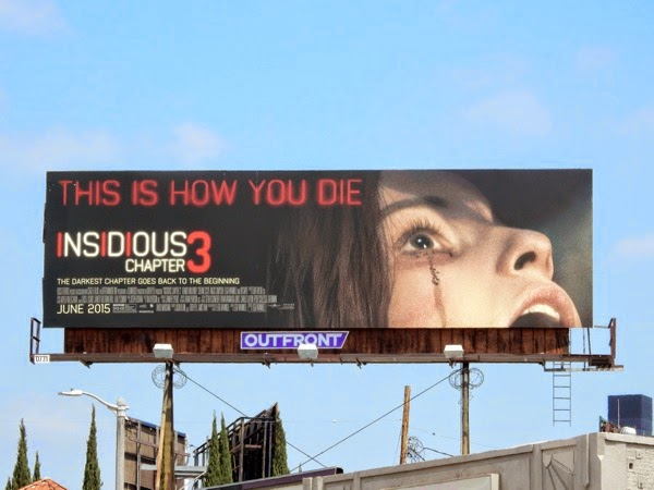 Insidious 3 This is how you die billboard