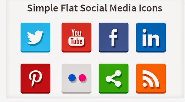 Ressources Web du Lundi #006 by Iscomigoo Webdesign: Simple Flat Social Media Icons
