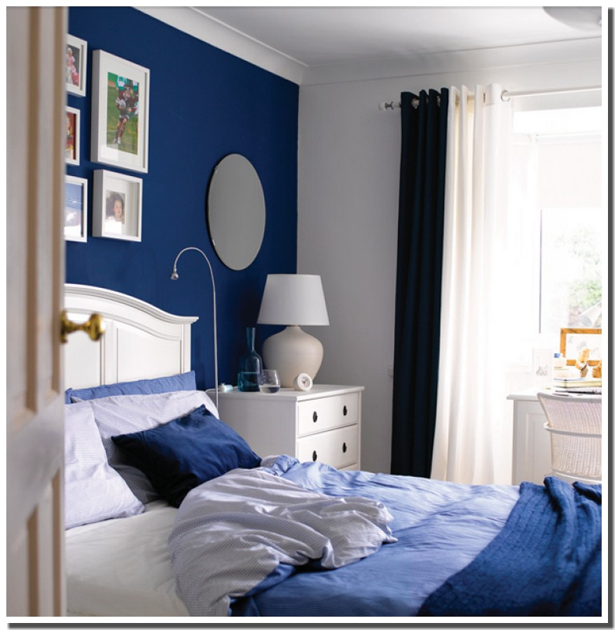 nassima home chambre d cor bleu et blanc ikea. Black Bedroom Furniture Sets. Home Design Ideas