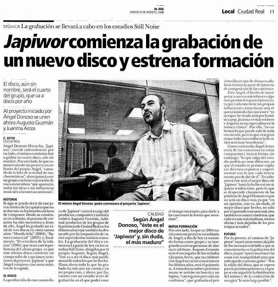 08/08/2006 EL DÍA Ciudad Real