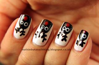 rudolph reindeer nail art
