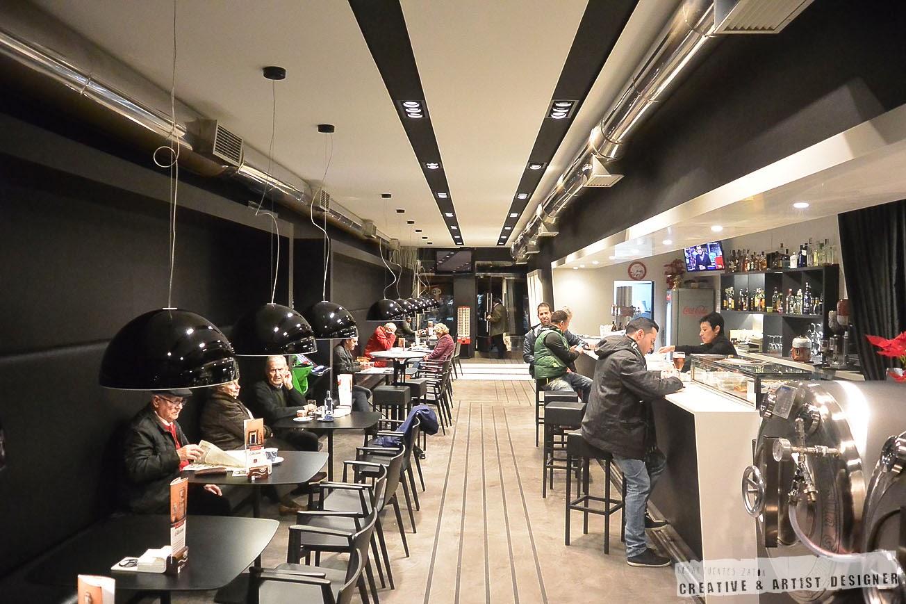 Proyecto de Interiosrismo Cafetería Gran Vía. (Interior)