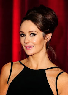 Claire at the soap awards 2013 with a sophisticated up style