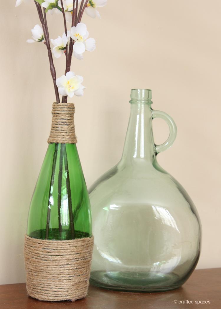 crafted spaces recycled glass bottle vase