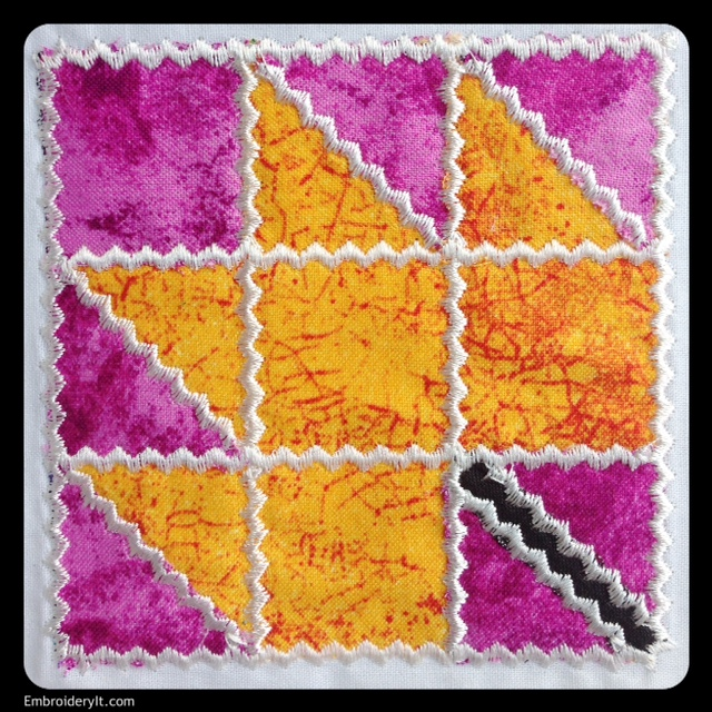 Maple leaf applique embroidered quilt block embroidery it
