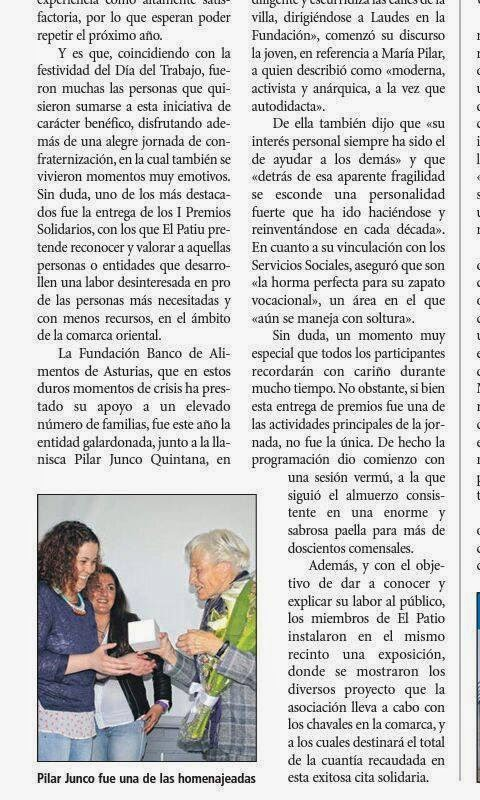 Noticia en El Oriente de Asturias