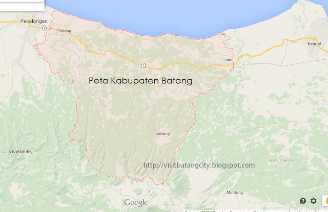 Google Map Kabupaten Batang Jateng Jawa Tengah