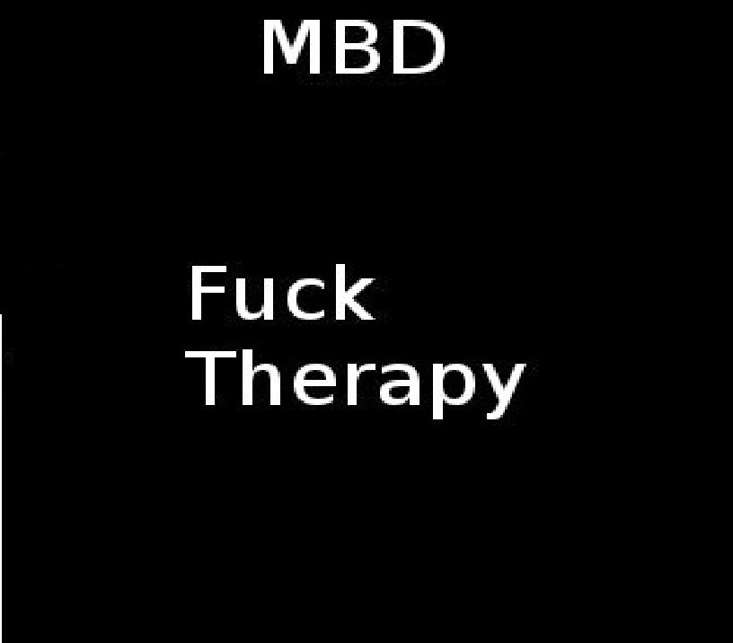 """UTR 009: MBD - Fuck Therapy 3"""" CD-R Fuck+Therapy"""