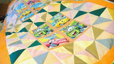 Одеяло для мальчика, лоскутное покрывало Тачки - подарок мальчику