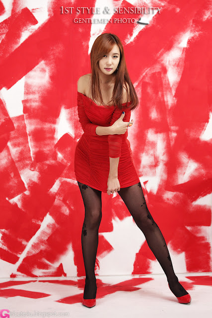 2 Choi Yu Jung - Hot Red - very cute asian girl-girlcute4u.blogspot.com