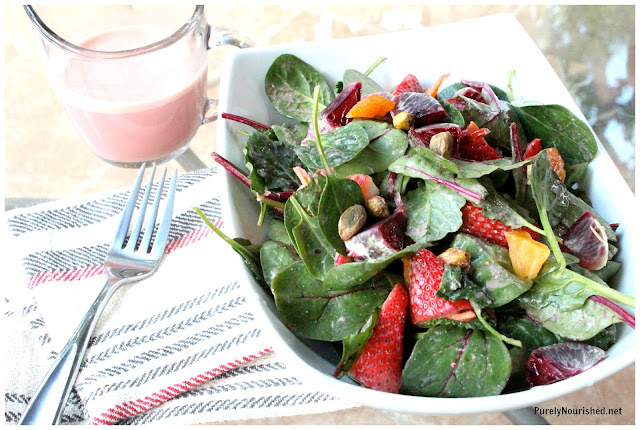 Purely Nourished: Baby Ruby Salad with Blood Orange Cashew ...